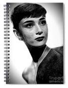 Audrey Hepburn - Black And White Spiral Notebook