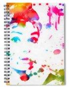 Audrey Hepburn Paint Splatter Spiral Notebook