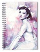 Audrey Hepburn Portrait Spiral Notebook
