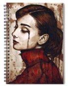 Audrey Hepburn - Quiet Sadness Spiral Notebook