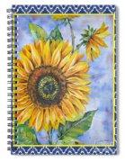 Audrey's Sunflower With Boarder Spiral Notebook