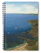 August Afternoon At Whitsand Bay Cornwall Spiral Notebook
