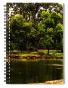 August By The Fountain Spiral Notebook