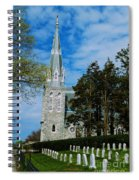 Augustinian Cemetery And Church Spiral Notebook