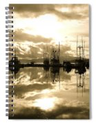 Auke Bay In Sepia Spiral Notebook