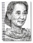 Aung San Suu Kyi Spiral Notebook