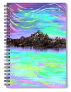 Aurora Borealis Poster Spiral Notebook
