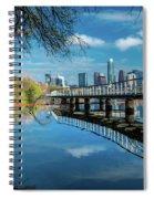 Austin Skyline And Lady Bird Lake - Spiral Notebook