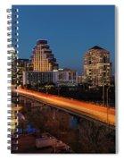 Austin, Texas Cityscape Evening Skyline Spiral Notebook