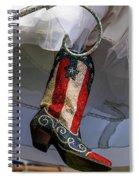 Austin Texas - Red White Blue Sequin Spiral Notebook