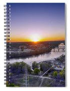 Austin Texas Sunset Hour Spiral Notebook