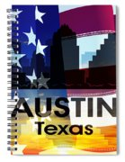 Austin Tx Patriotic Large Cityscape Spiral Notebook