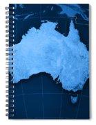 Australia Topographic Map Spiral Notebook