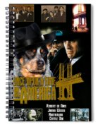 Australian Cattle Dog Art Canvas Print - Once Upon A Time In America Movie Poster Spiral Notebook