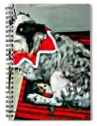 Australian Shepherd Christmas Dog Spiral Notebook