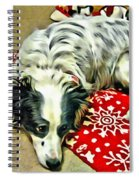 Australian Shepherd Happy Holidays Spiral Notebook