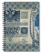 Austria Banknote, 1902 Spiral Notebook