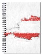 Austria Painted Flag Map Spiral Notebook