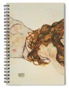 Austria Vienna Female Nude Lying On Her Stomach Spiral Notebook