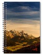 Austrian Autumn Scenic Panorama Spiral Notebook