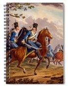 Austrian Hussars In Pursuit Spiral Notebook