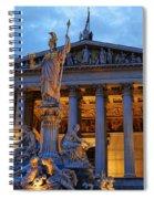 Austrian Parliament Building Spiral Notebook