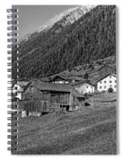 Austrian Village Monochrome Spiral Notebook