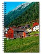 Austrian Village Spiral Notebook