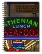 Authentic Lunch Seafood Spiral Notebook