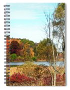 Autmn Pond Closer Look Spiral Notebook