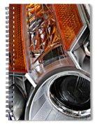 Auto Headlight 25 Spiral Notebook