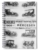 Automobile Ad, 1905 Spiral Notebook