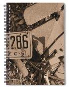 Automobile Graveyard Spiral Notebook