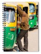 Autorickshaw Row Spiral Notebook