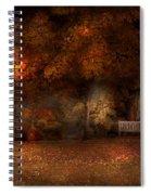 Autumn - A Park Bench Spiral Notebook