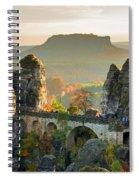 Autumn Afternoon On The Bastei Bridge Spiral Notebook