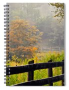 Autumn Along The Fence Spiral Notebook