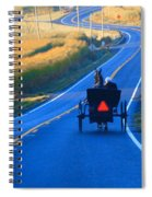 Autumn Amish Buggy Ride Spiral Notebook