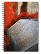 Autumn At Chicago Millennium Park Bp Bridge Mixed Media 03 Spiral Notebook