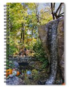 Autumn At The Waterfall Spiral Notebook
