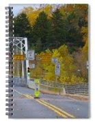 Autumn At Washington's Crossing Bridge Spiral Notebook