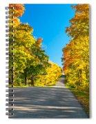 Autumn Back Road Spiral Notebook