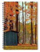 Autumn Barn Spiral Notebook