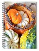 Autumn Basketful Spiral Notebook