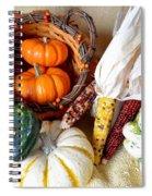 Autumn Basketful With Corn Spiral Notebook