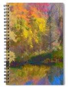 Autumn Beside The Pond Spiral Notebook