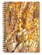 Autumn Birch Leaves Spiral Notebook
