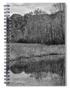 Autumn Black And White Spiral Notebook
