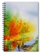 Autumn Burst Of Fall Impressionism Spiral Notebook