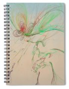 Autumn Butterfly Abstract Spiral Notebook